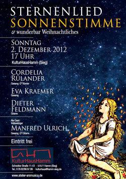 Konzert am 2.12.12 um 17 Uhr im Kulturhaus Hamm